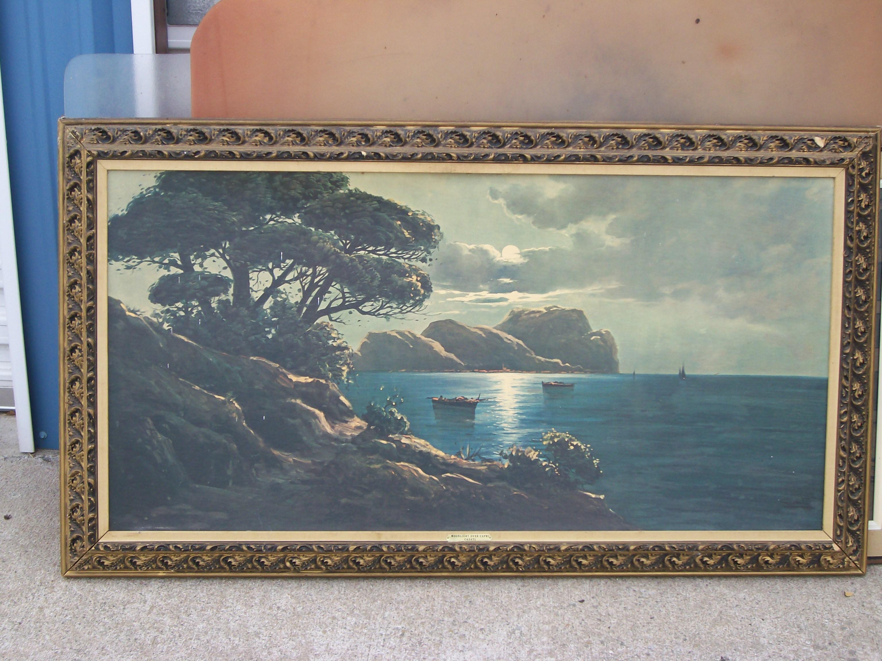 Moonlight Over Capri antique appraisal | InstAppraisal