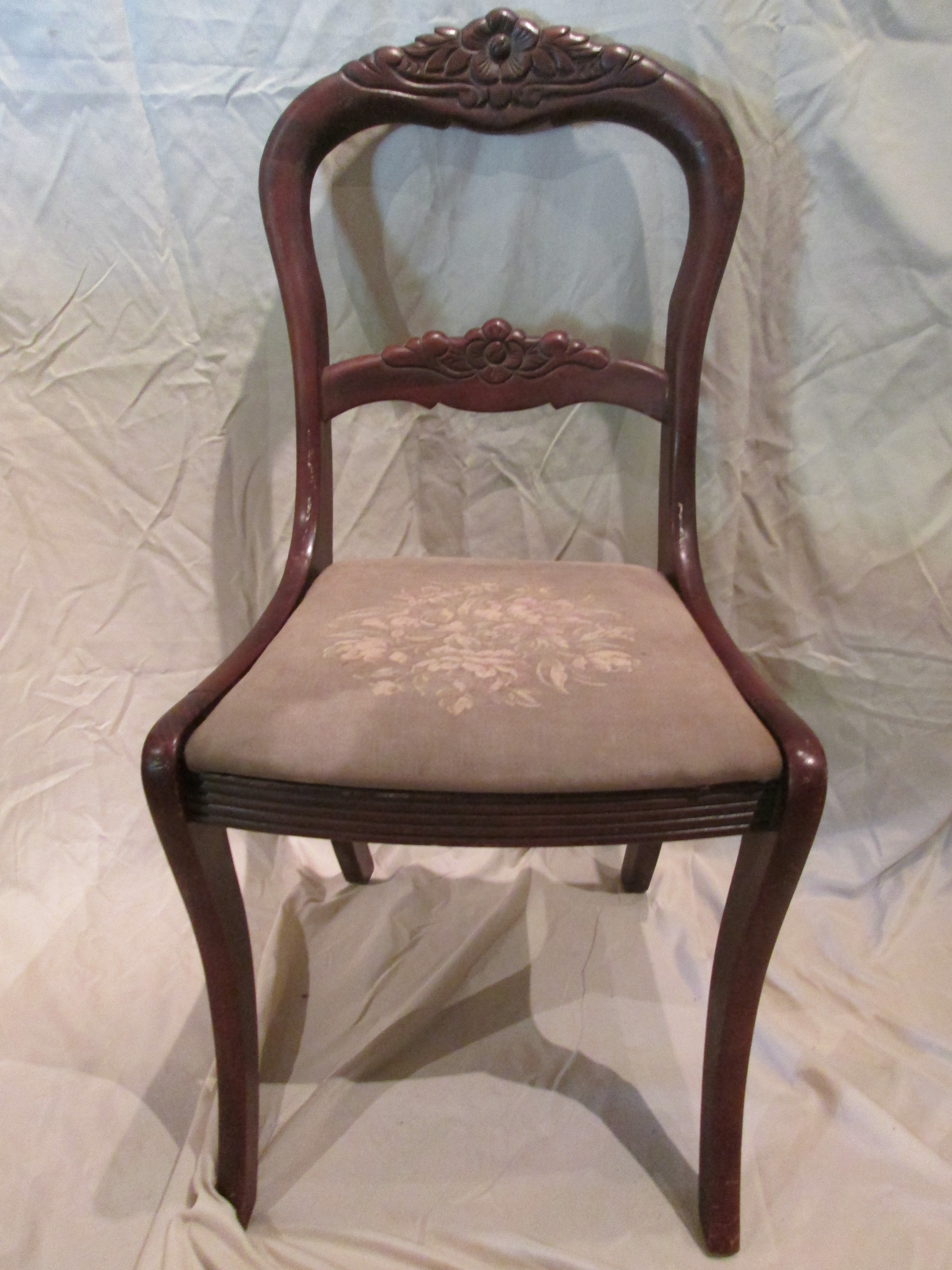 Tell City Chair Company Rose Balloon Back Chair Antique