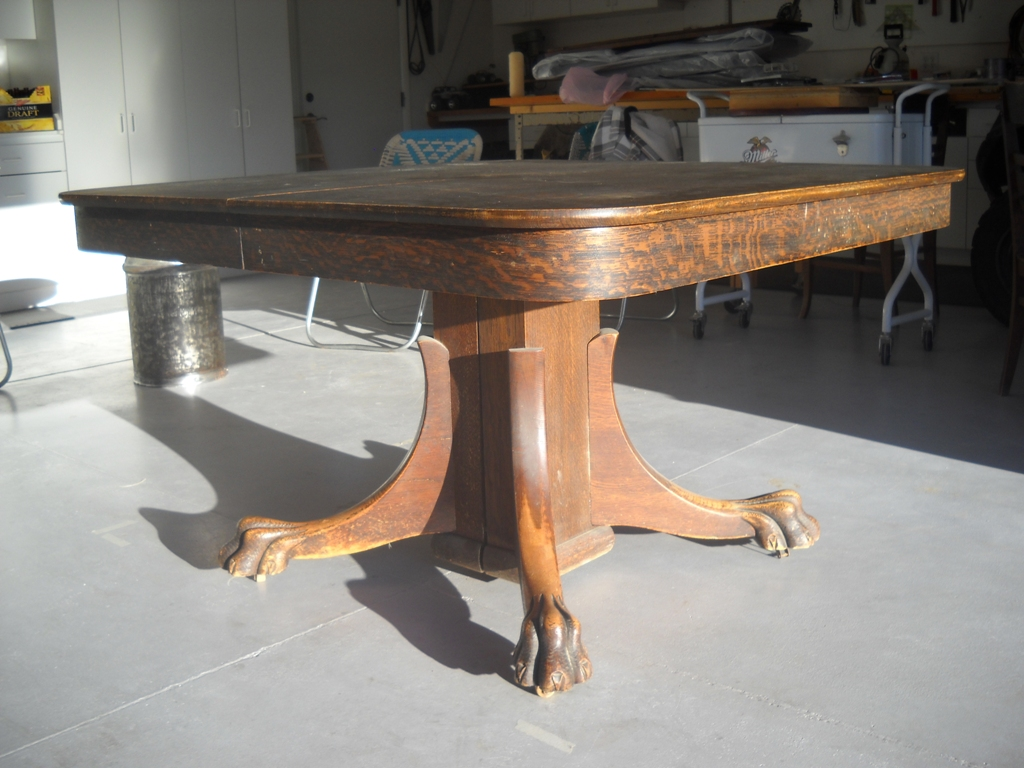Antique Oak Claw Foot Dining Table Antique Appraisal InstAppraisal - Claw foot oak dining table