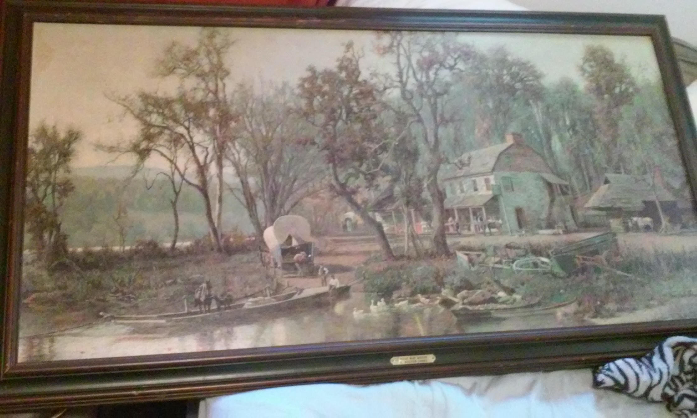 Antique Painting The Halfway House By H Bolton Jones