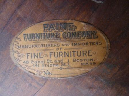 Paine Furniture Company Antique Furniture Piece Antique Appraisal