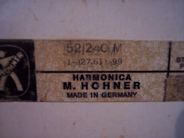1950's Hohner Tremolo Sextet HARMONICA Model 52/240M ...