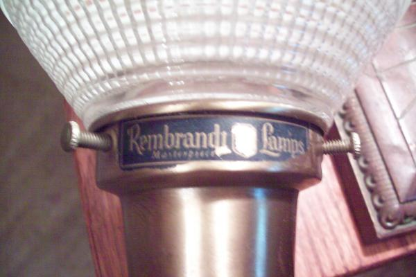 Pair Of Rembrandt Lamps   Masterpiece   Brass Lamp