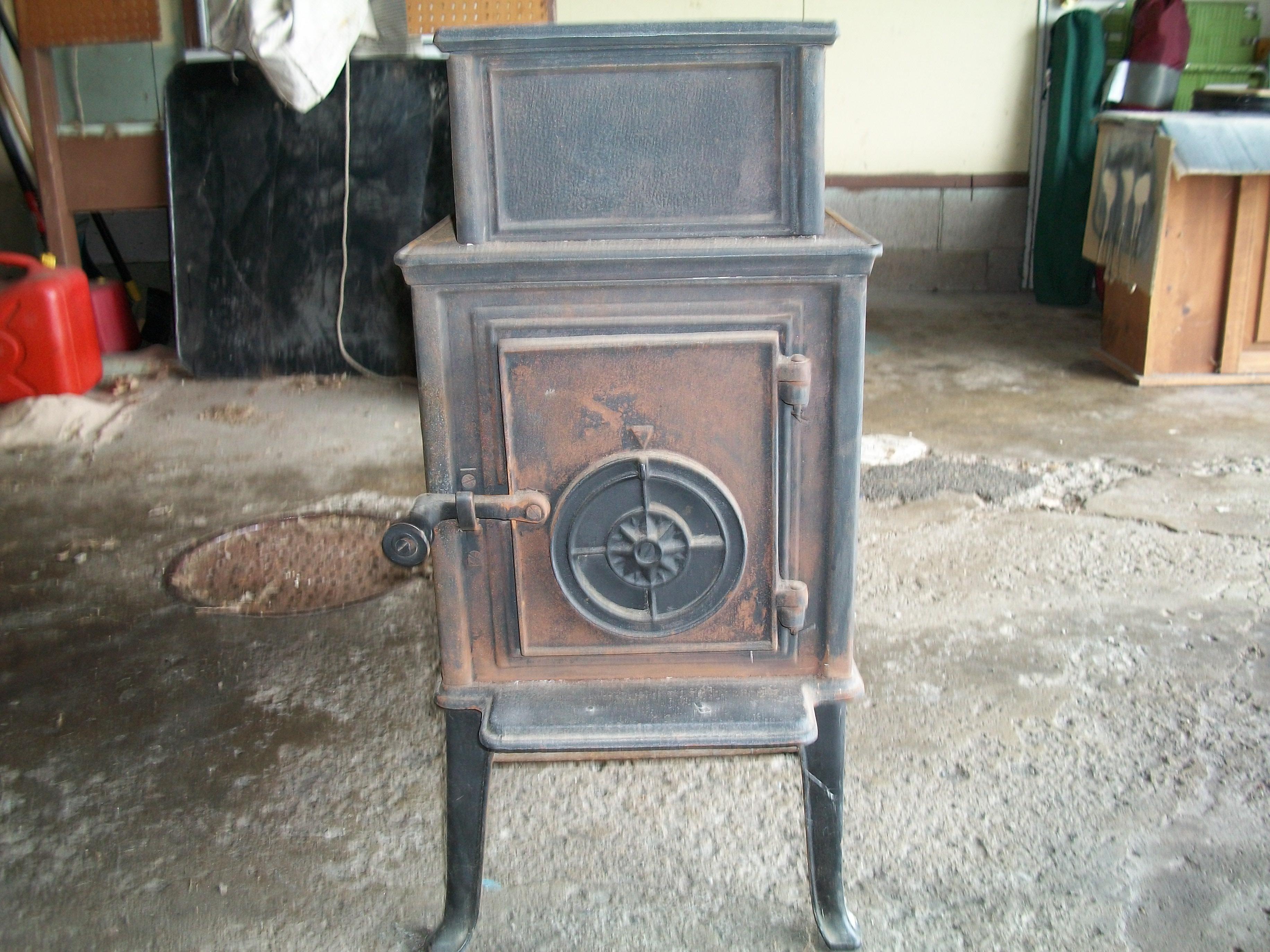 Cast Iron Wood Burning Stove Heater Antique Appraisal