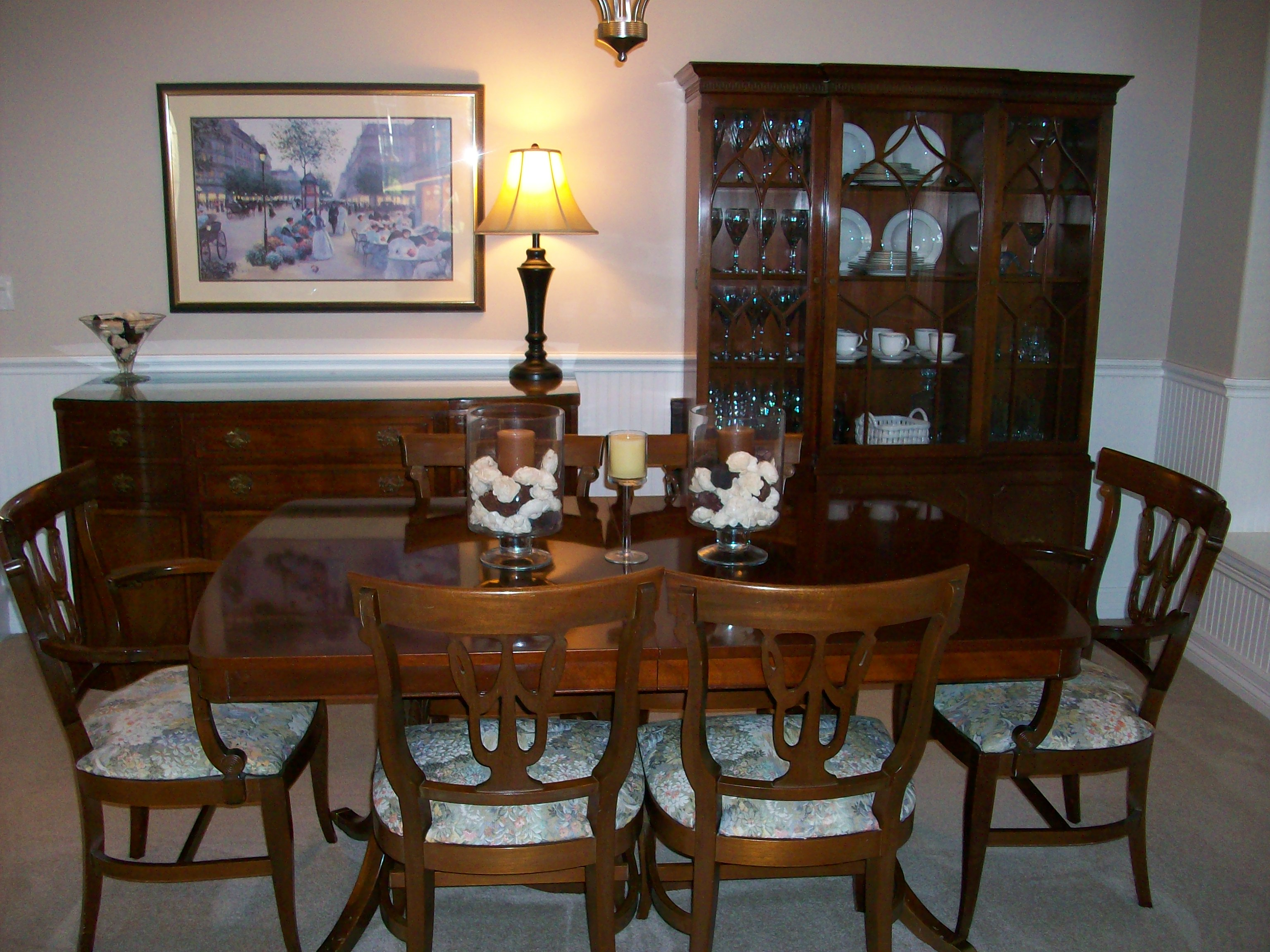 Rway 10 piece dining room set antique appraisal for R way dining room furniture