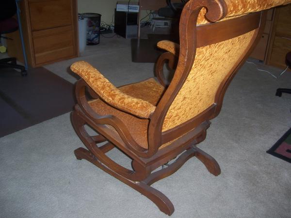 Victorian Era Upholstered Platform Rocking Chair Antique