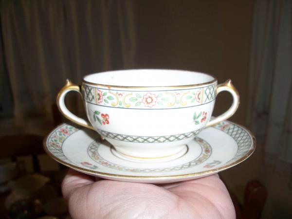 Ch Field Haviland Limoges Gda France China Bullion Cup And Saucer
