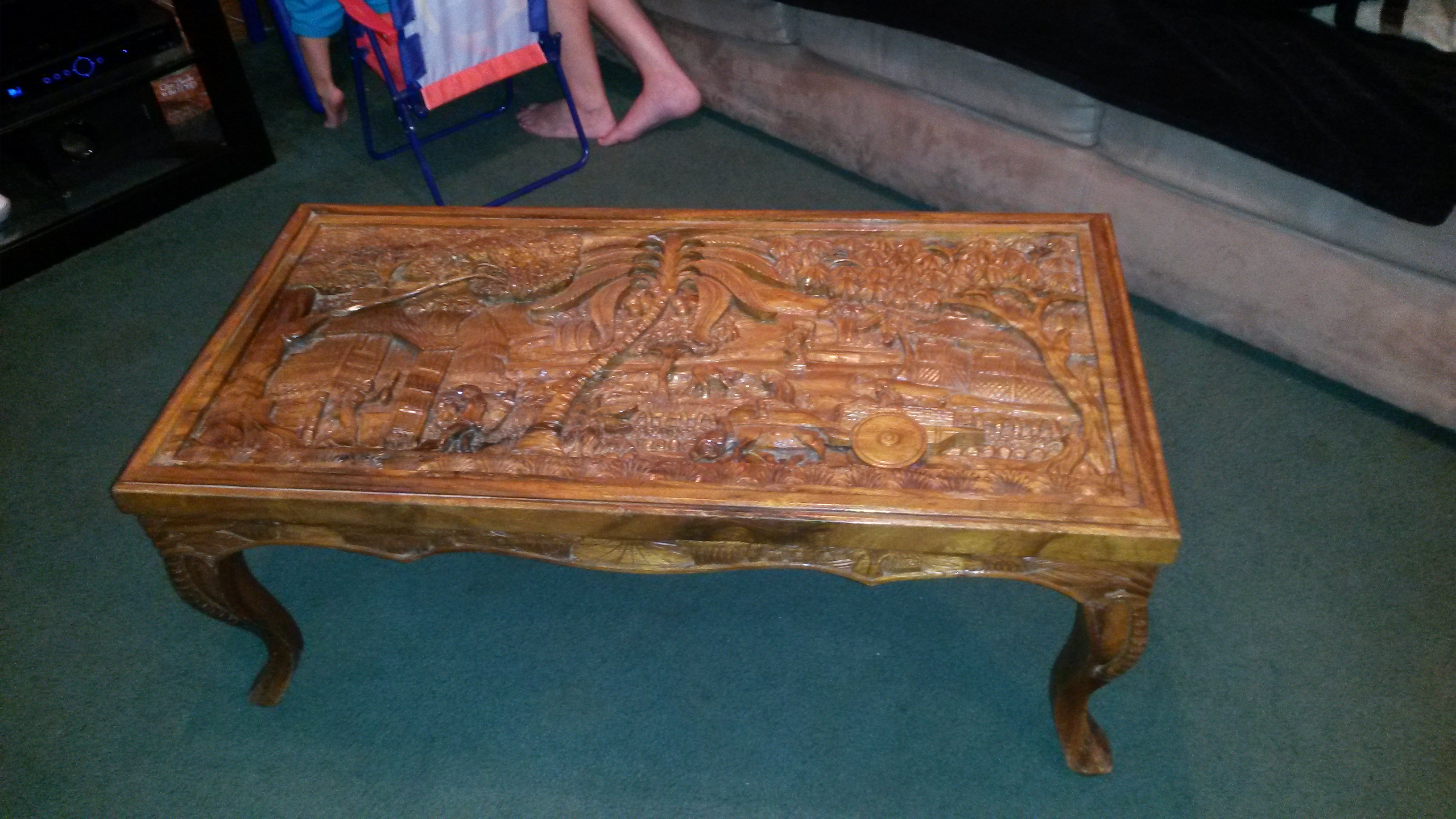 Lovely Antique Hand Carved Coffee Table Appraisal Instappraisal