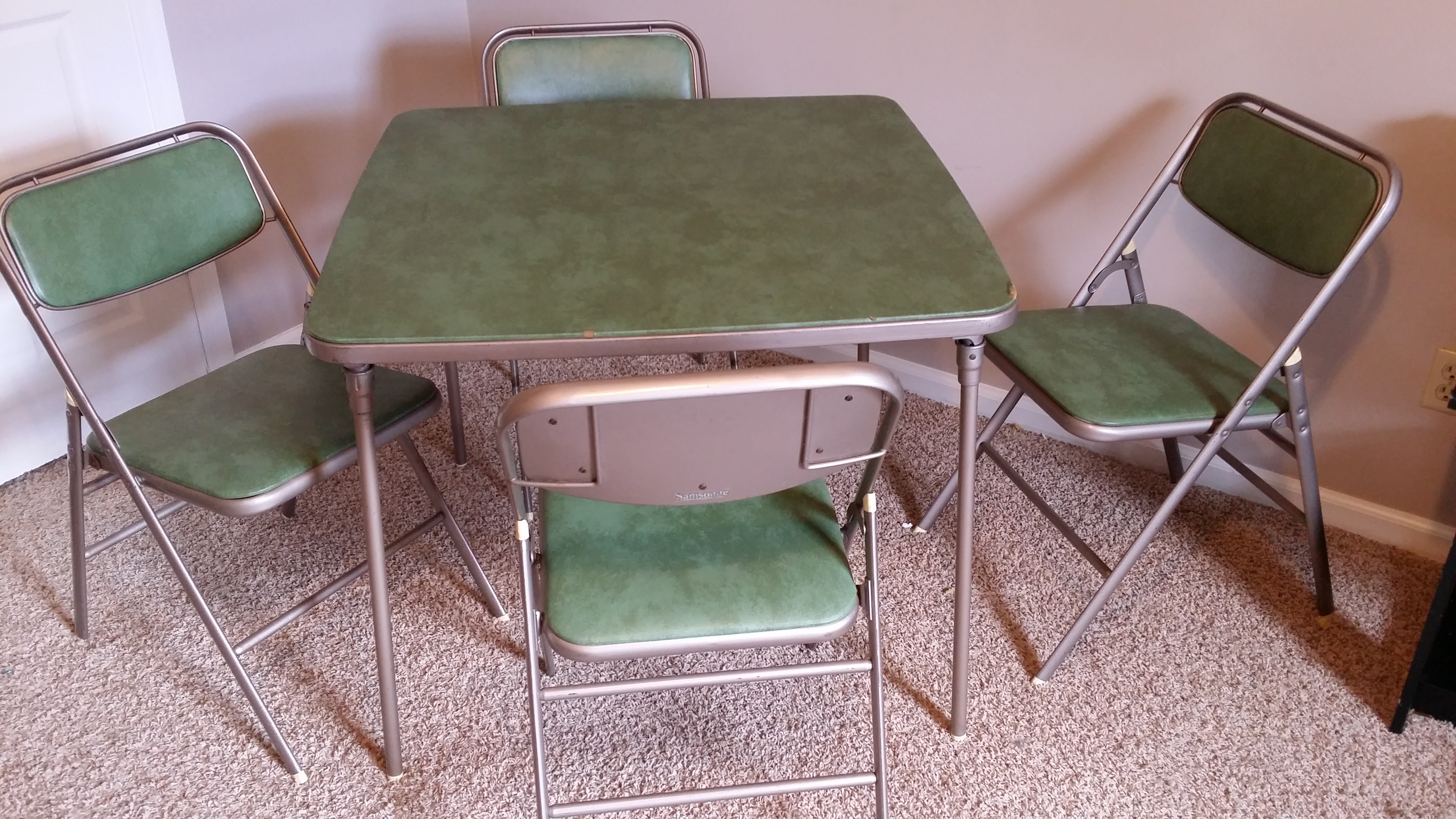 Samsonite card table and chairs antique appraisal