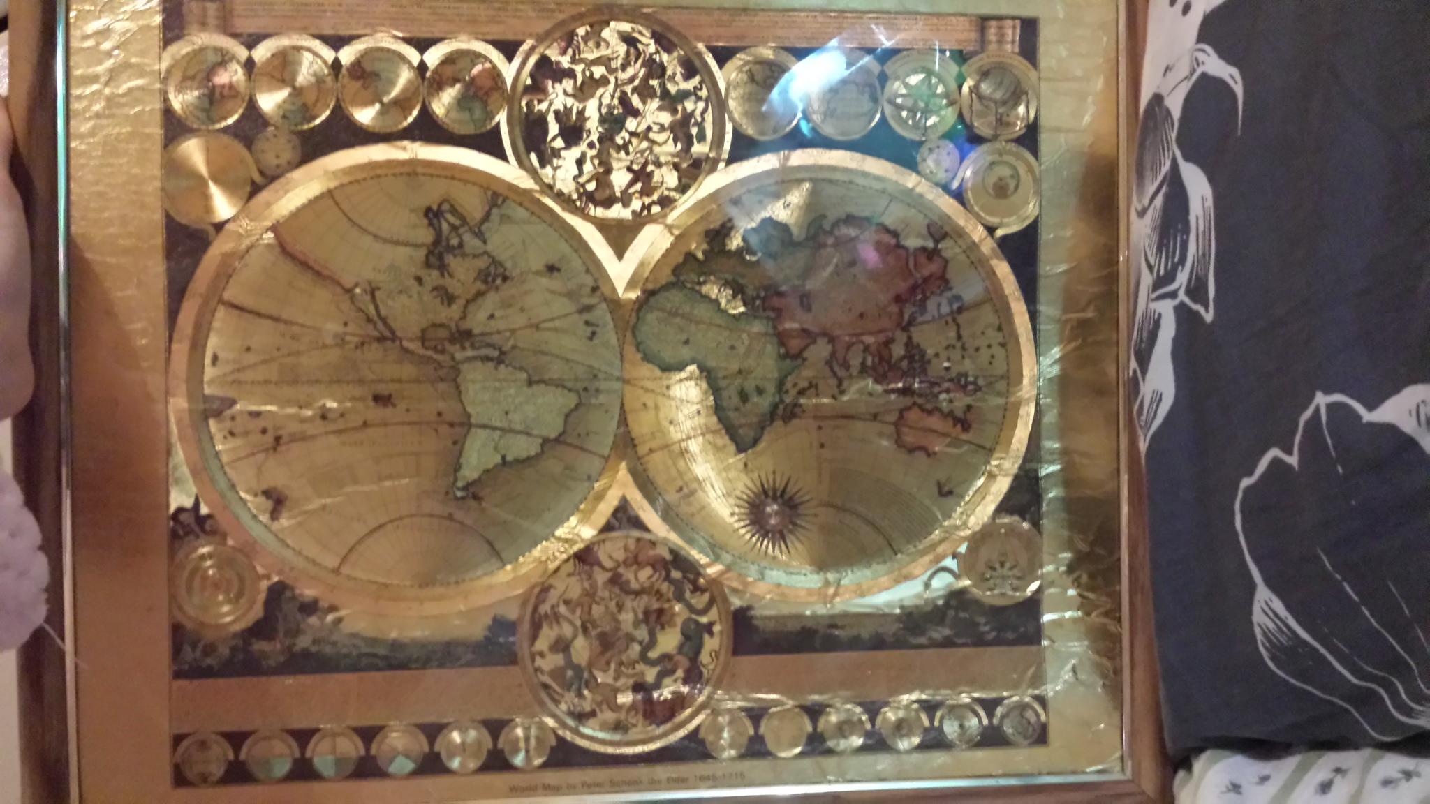 World Map By Peter Schenk The Elder.World Map By Peter Schenk The Elder 1645 1715 Antique Appraisal