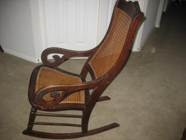 Antique Lincoln Rocking Chair