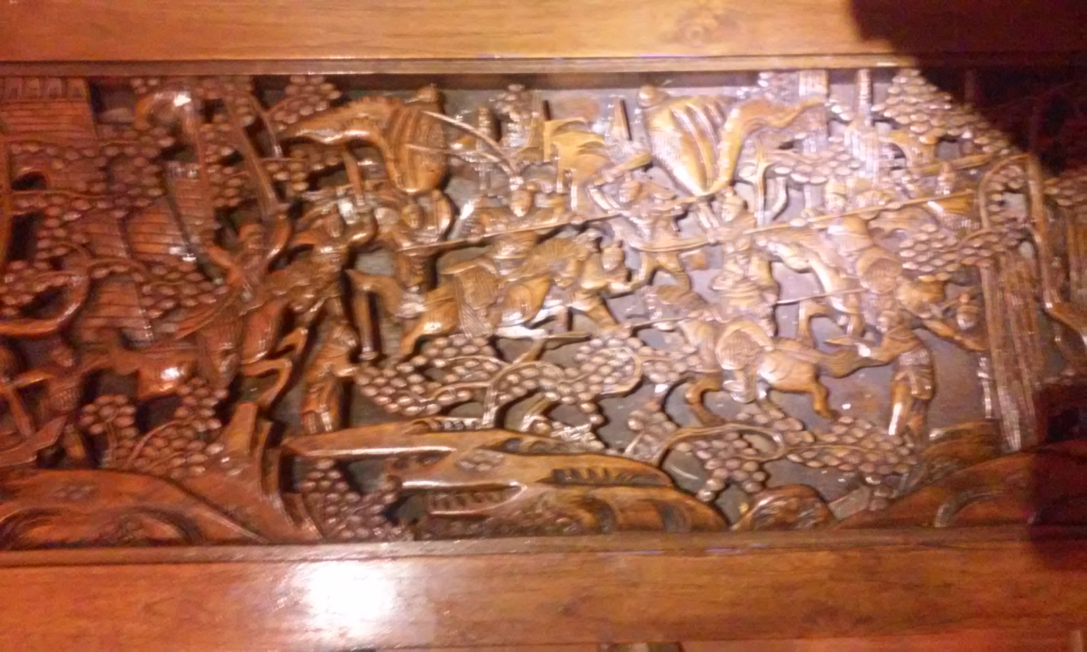 Antique Hand Carved Japanese Battle Coffee Table Antique Appraisal