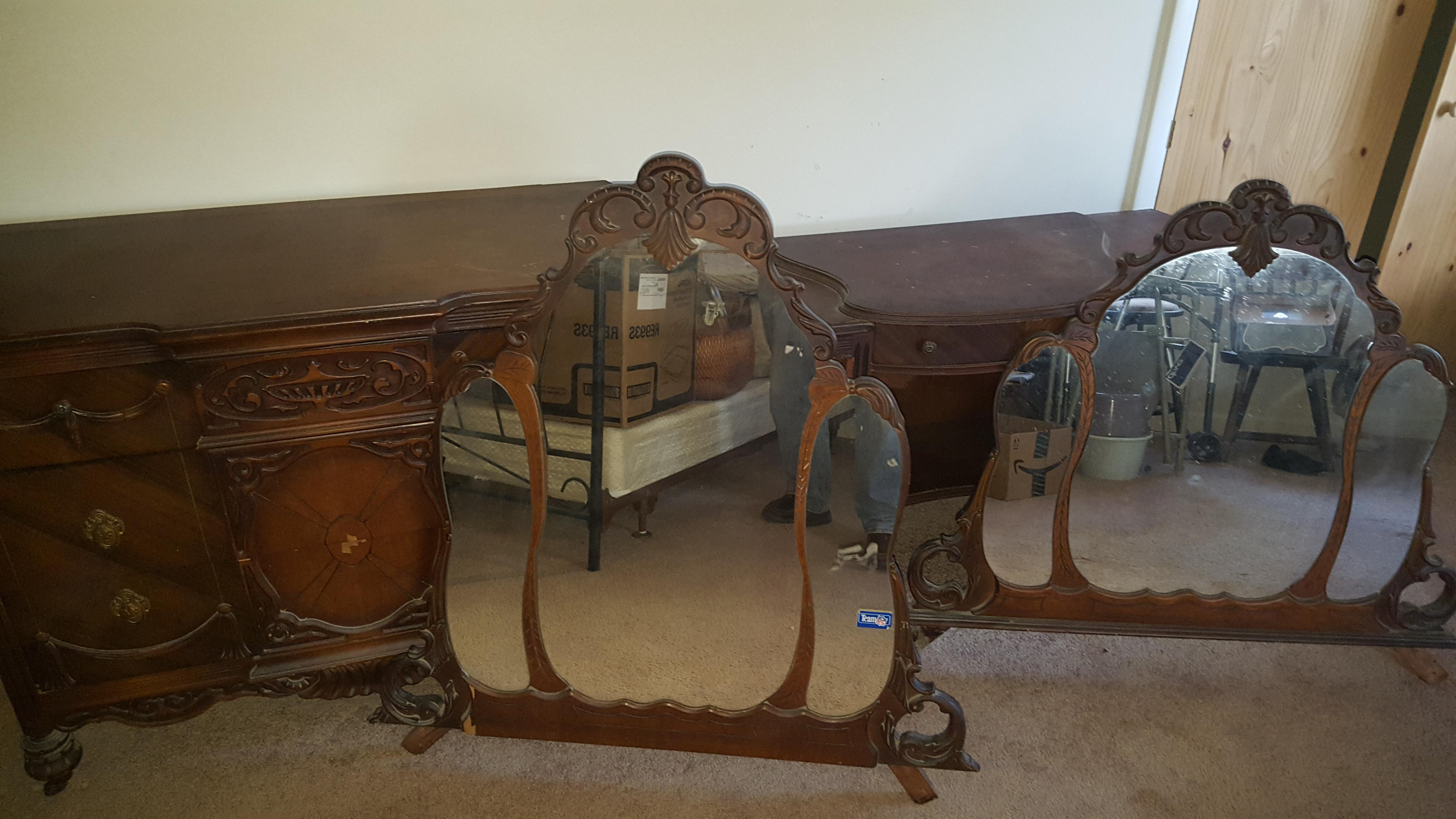 Late 1800 S Dresser And Vanity With Mirrors Antique