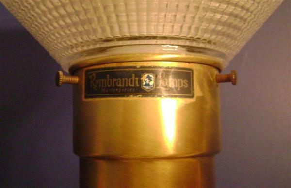 Wonderful Vintage Rembrandt Brass Table Lamp