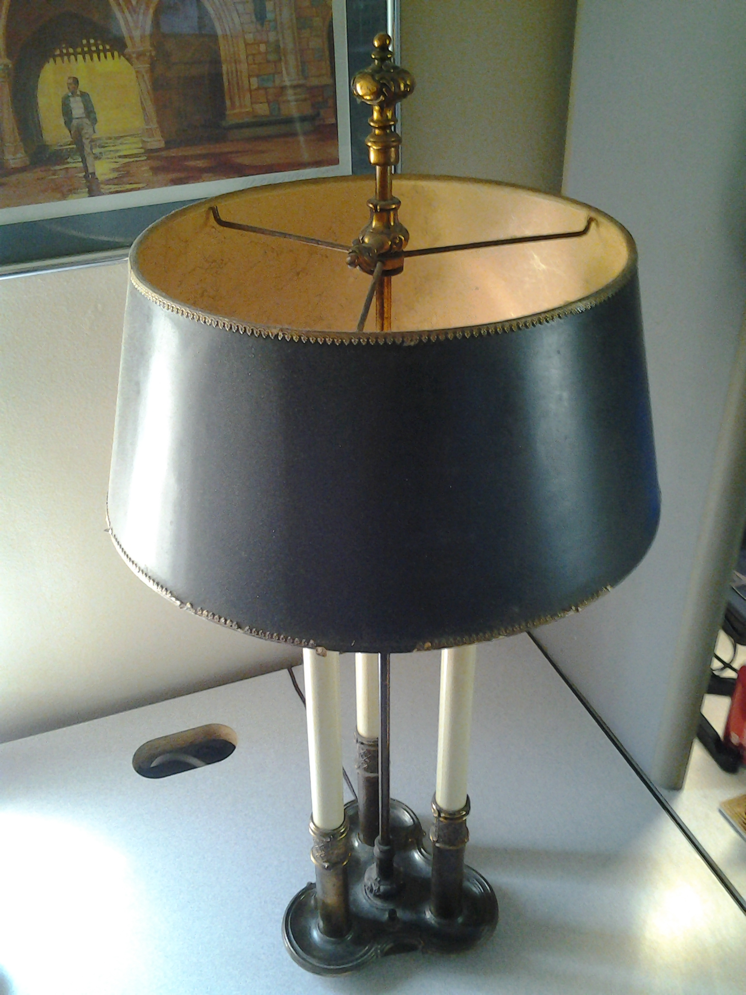 Antique stiffel lamp