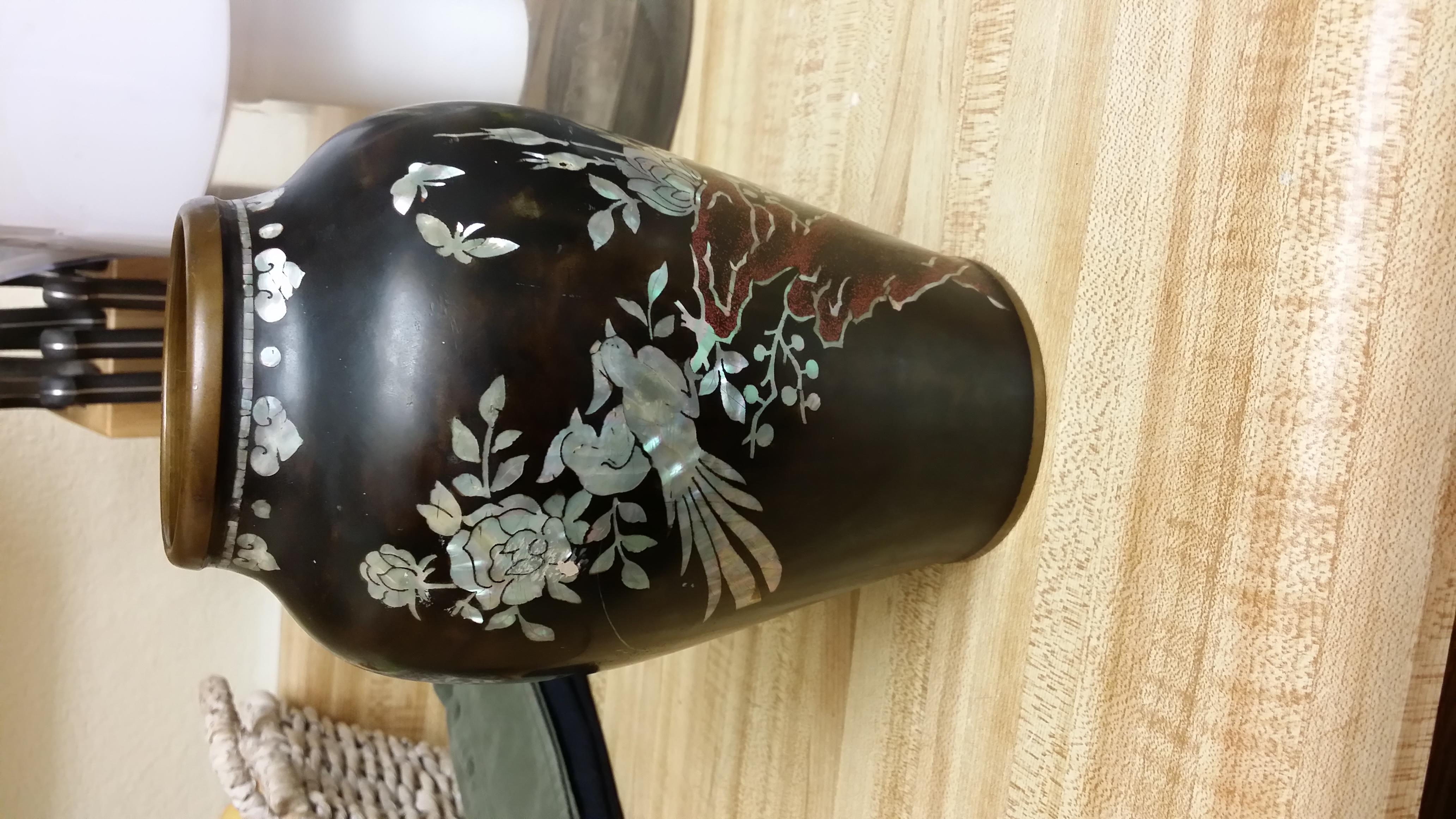 Korean black enamel mother of pearl vase antique appraisal korean black enamel mother of pearl vase reviewsmspy