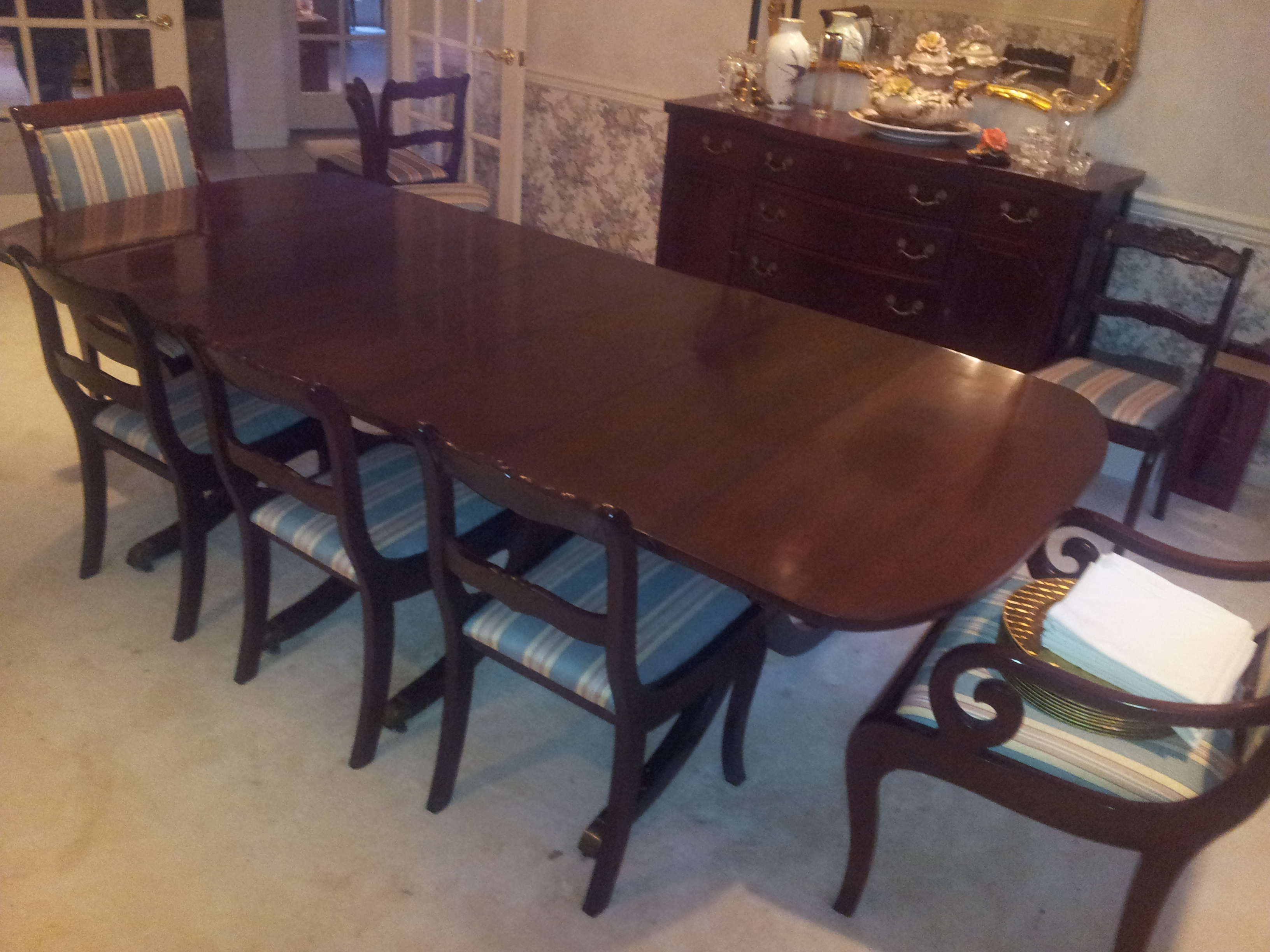 Surprising 1930S Duncan Phyfe Style Dining Room Set Antique Appraisal Machost Co Dining Chair Design Ideas Machostcouk