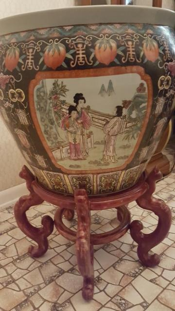 Large Oriental Fish Bowl Planter Antique Appraisal Instappraisal