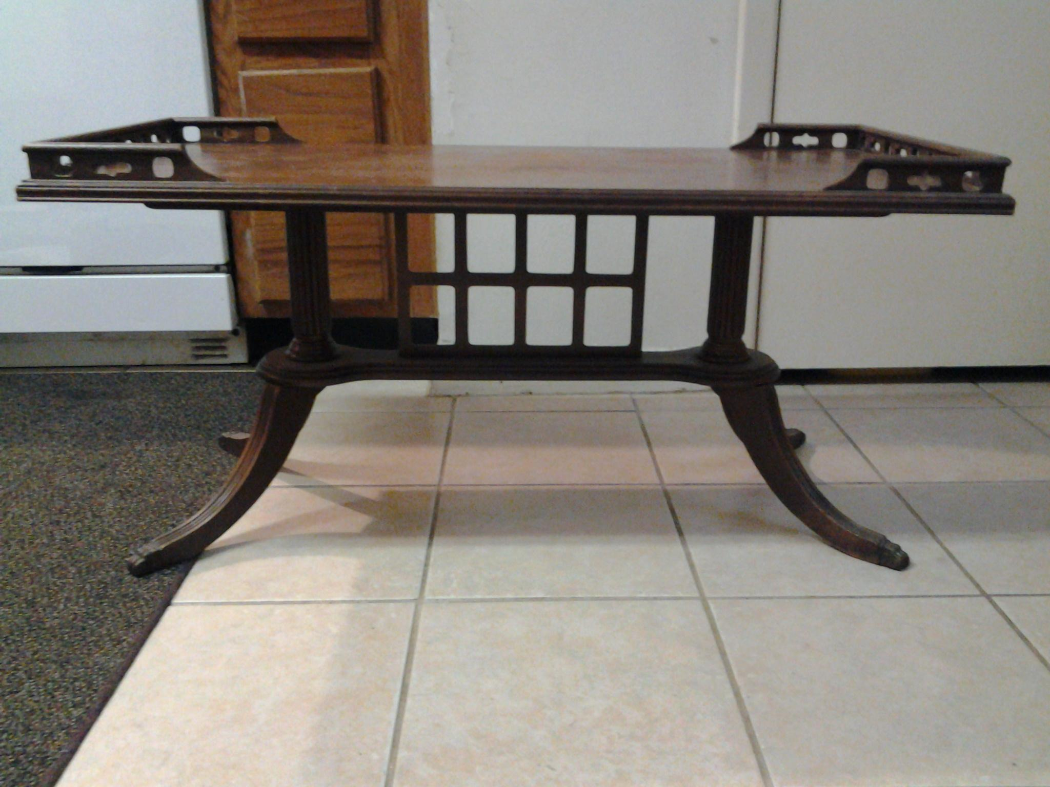 """Duncan Phyfe Coffee Table & """"Dumbwaiter"""" Table antique appraisal"""