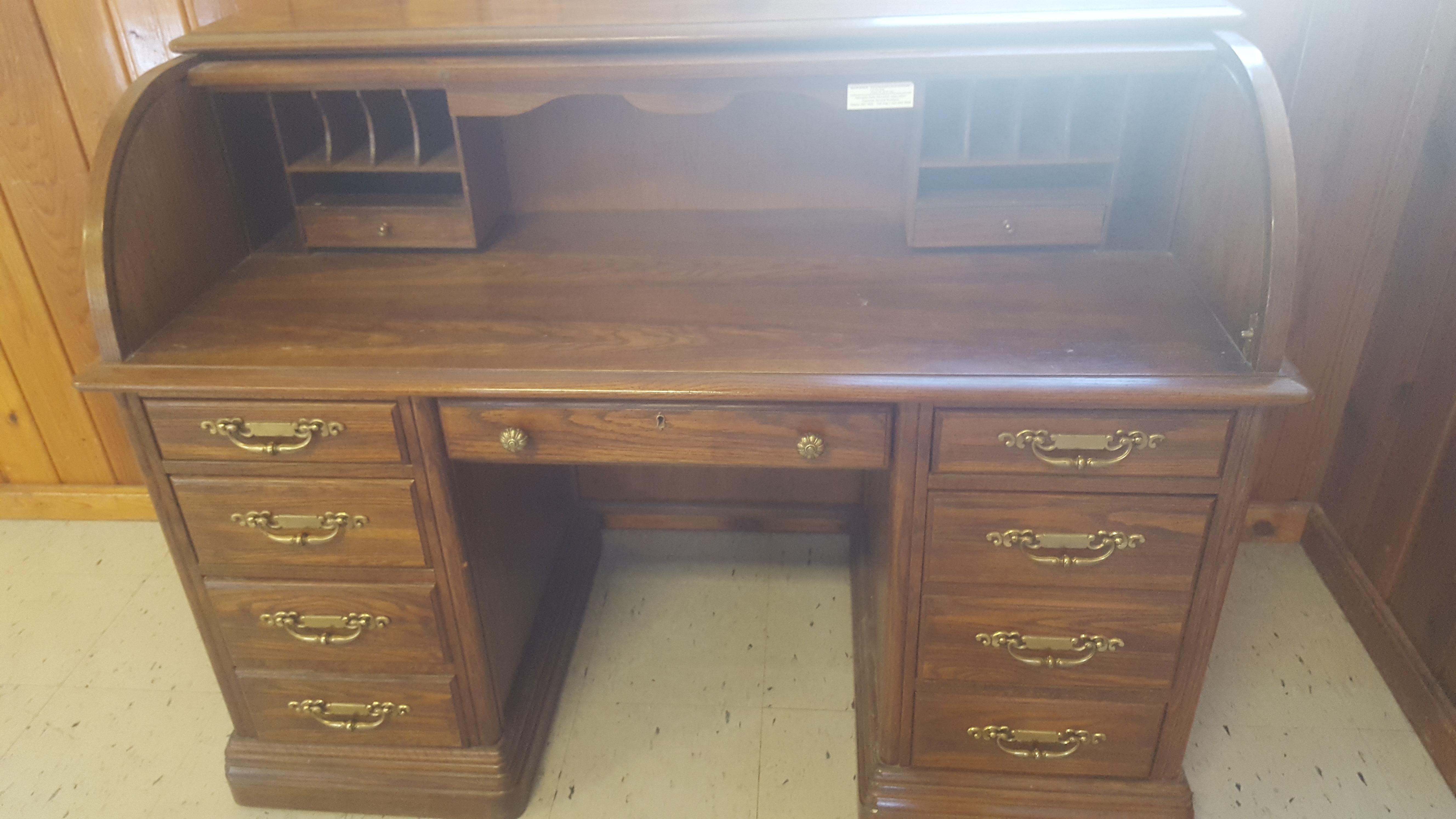 jasper cabinet roll top desk 688 rt antique appraisal instappraisal rh instappraisal com