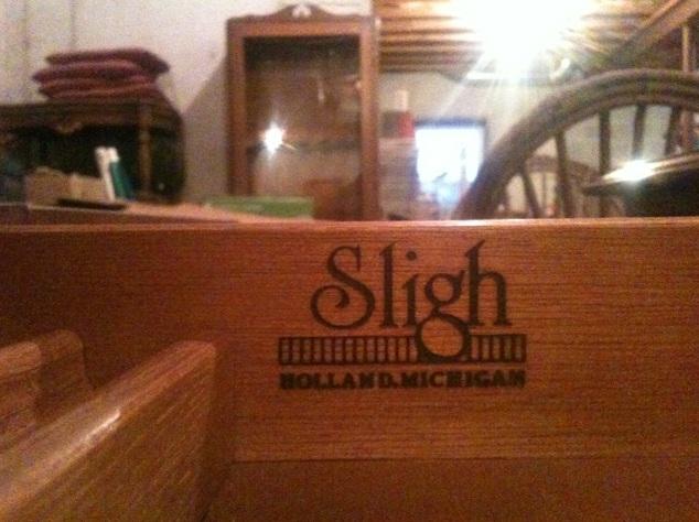 Sligh Desk [Holland, Michigan With Gold Inlay Stencils]