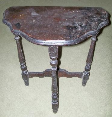 antique three legged table Three Leg Table/Stand antique appraisal | InstAppraisal antique three legged table