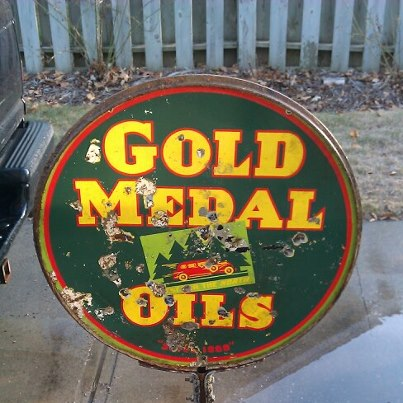 Porcelain Gold Medal Oil Sign Antique Appraisal