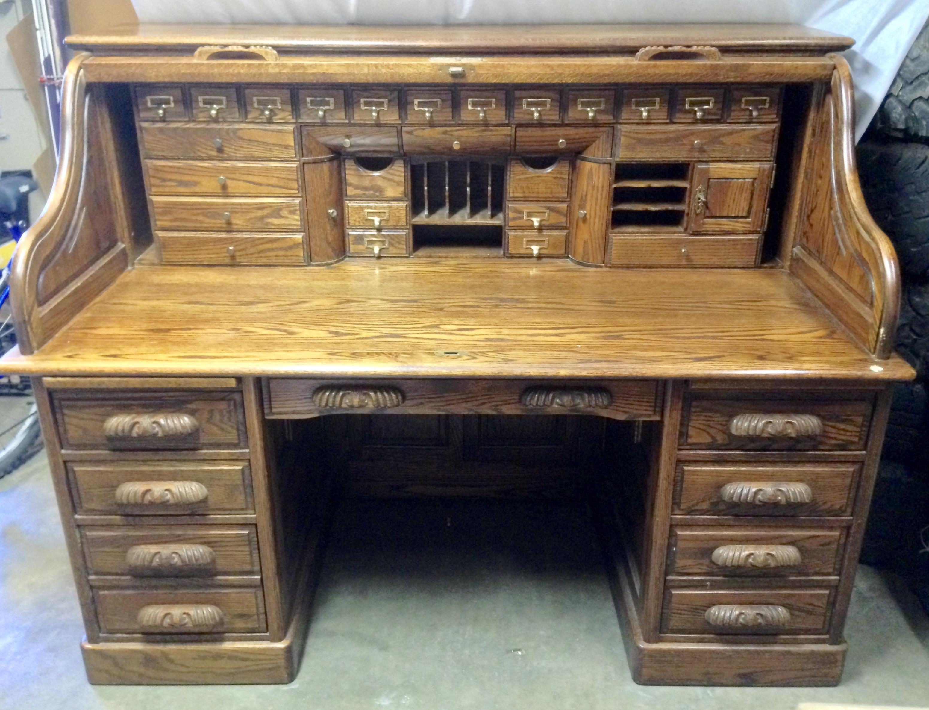 Oak Crest Manufacturing Large Rolltop Desk Antique Appraisal