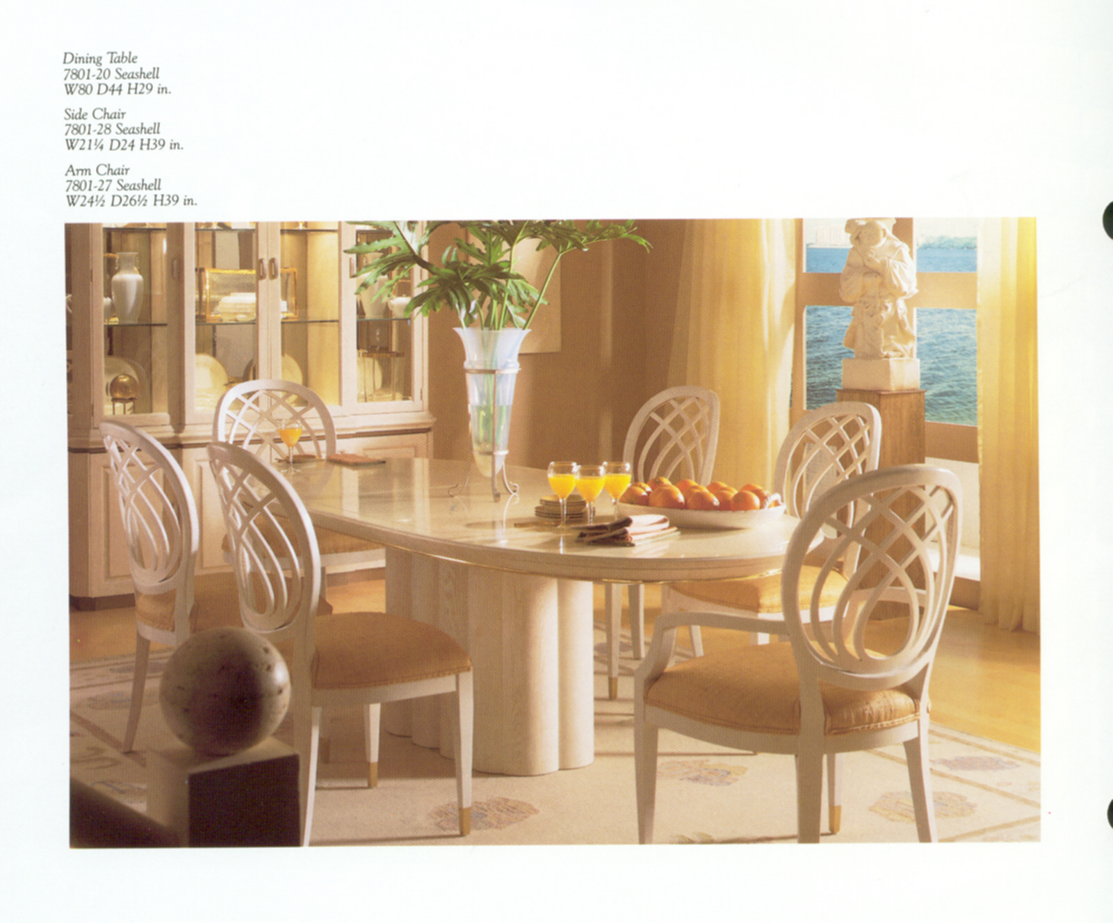 Henredon Charisma Dining Collection 8700