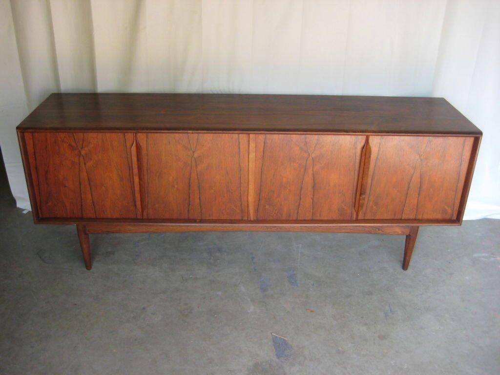 1960s Danish Credenza : Danish mid century modern s rosewood credenza antique