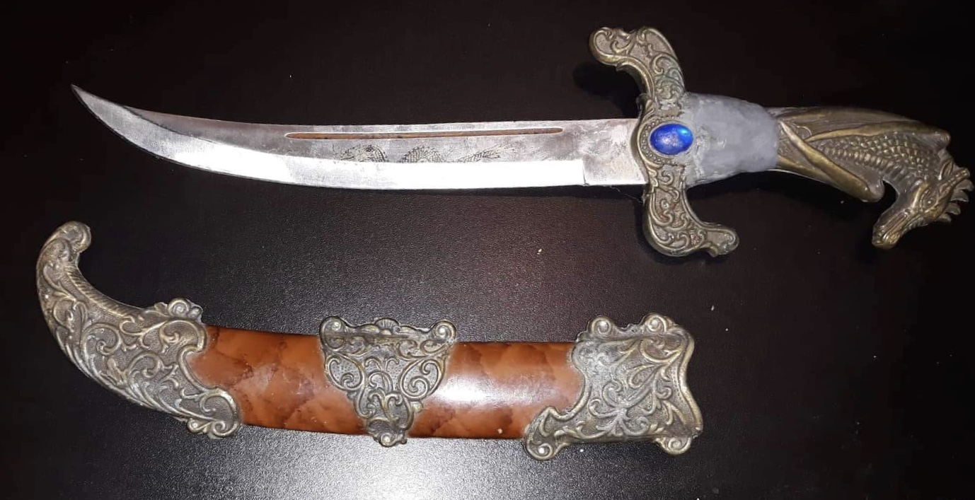 Antique knife with dragon handle antique appraisal
