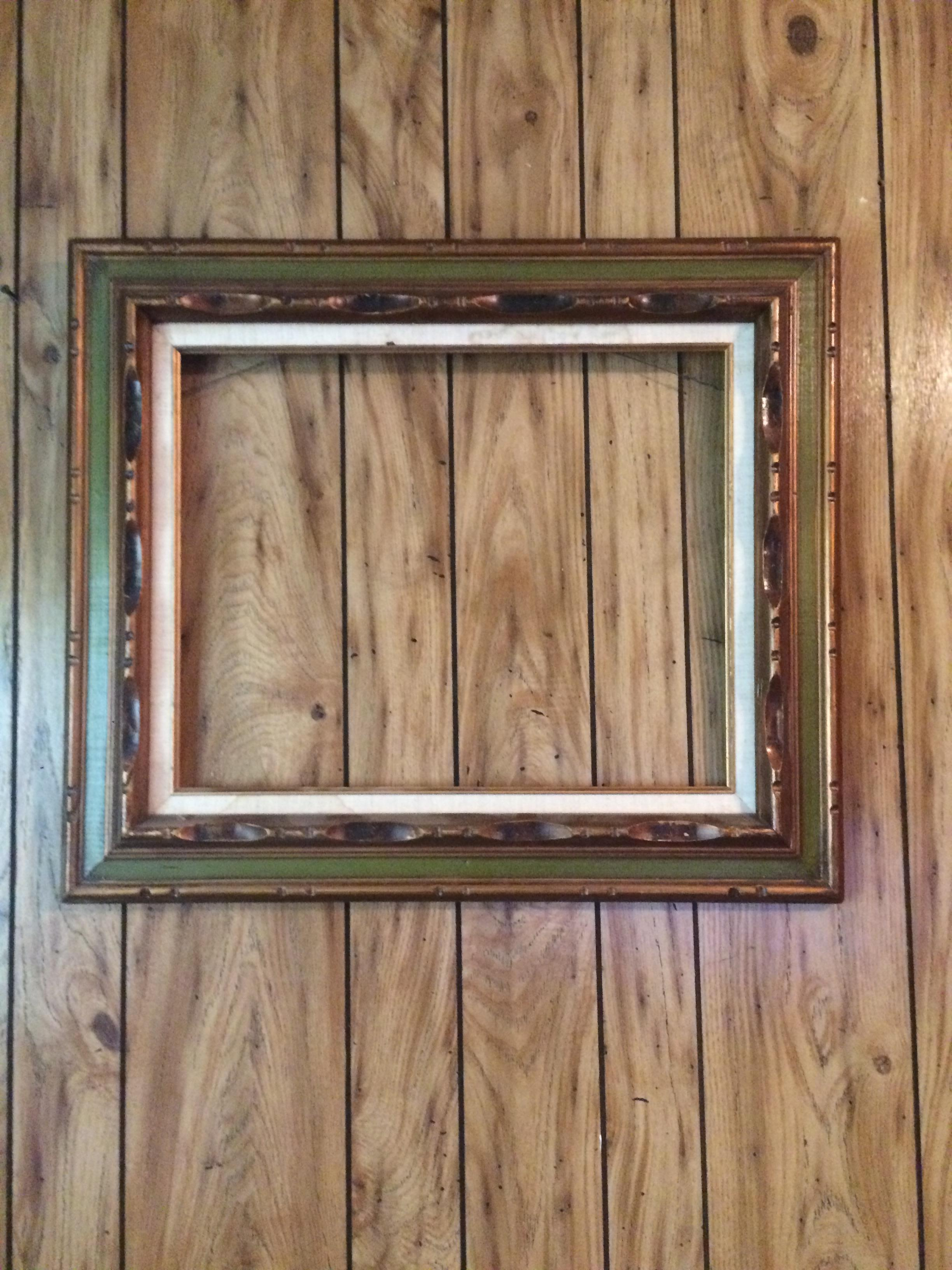 Antiquevintage Made In Mexico Handcarved Picture Frame Antique