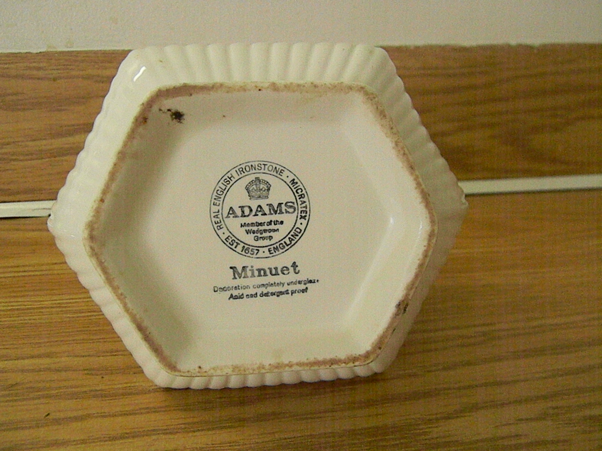 Adams Real English Ironstone Micratex Decoration Completely Under