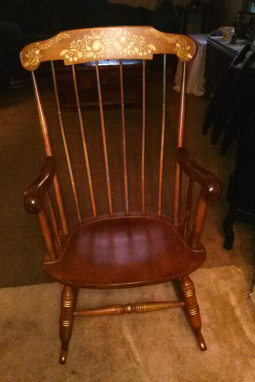 Nichols Amp Stone Company Rocking Chair Antique Appraisal
