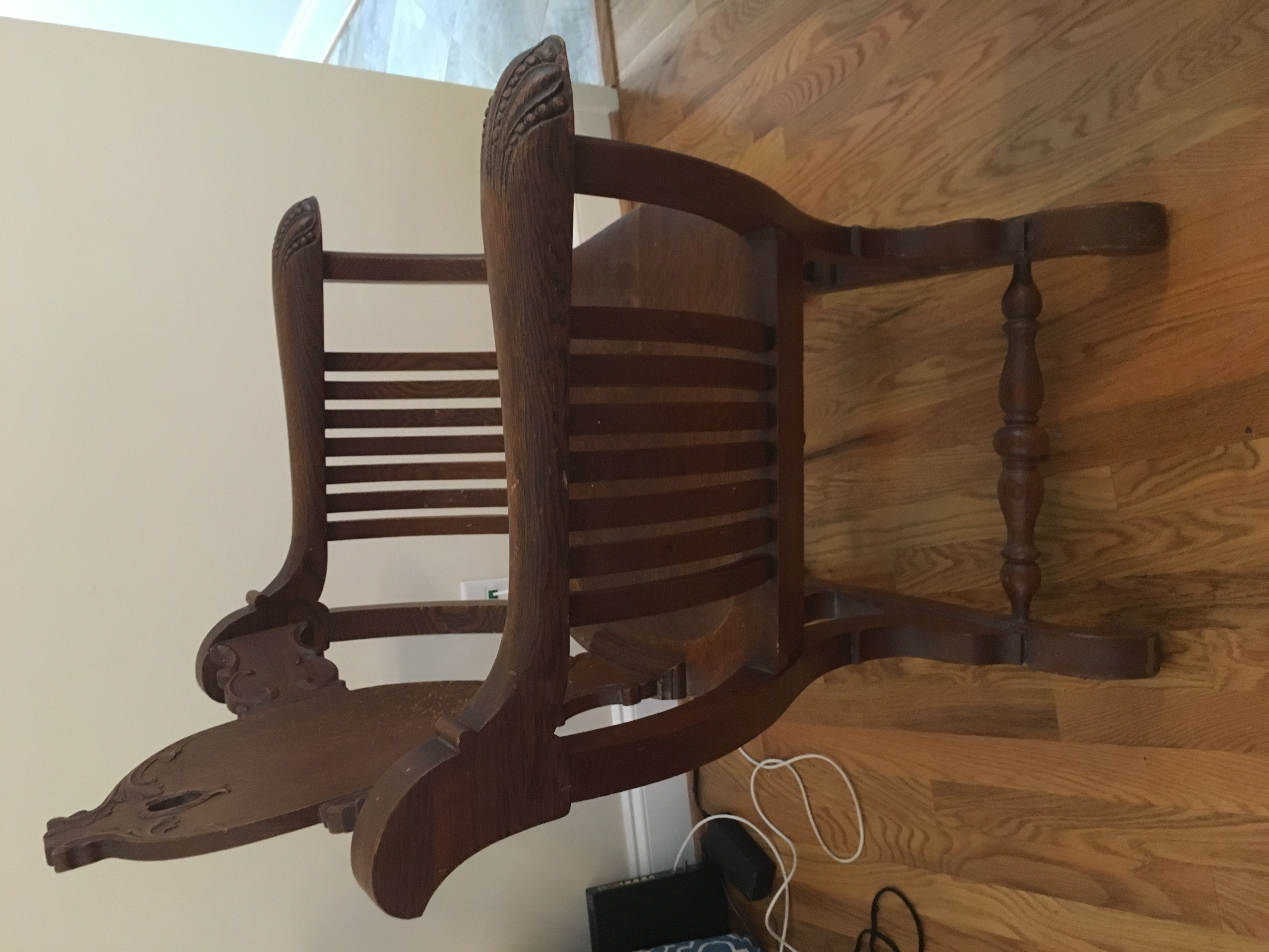 Ethan Allen Wing Back Chair With Crewel Work Antique