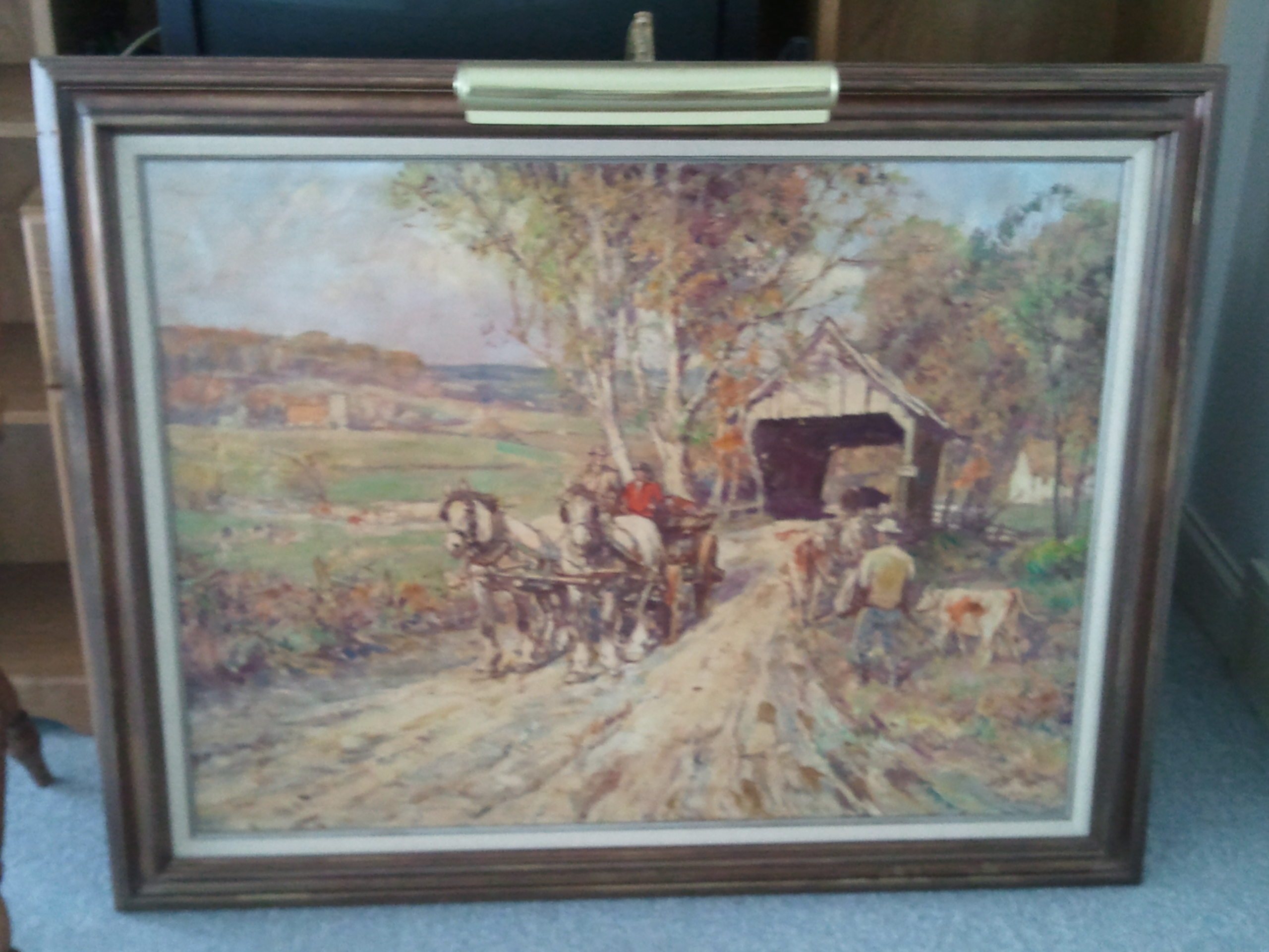 Leslie Cope Autographed Painting Antique Appraisal