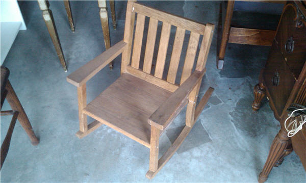 Antique Childs Rocking Chair With Music Box Antique