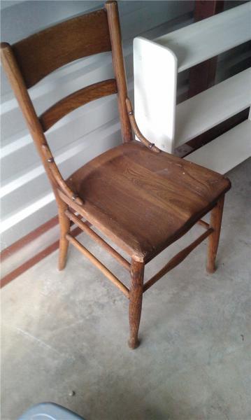 Antique Kitchen Farmhouse Wooden Chair 1800s?