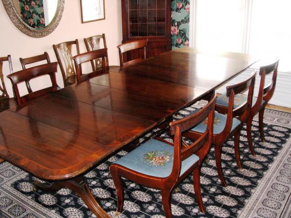 Brandt Quot Duncan Phyfe Quot Style Drop Leaf Dining Room Table W