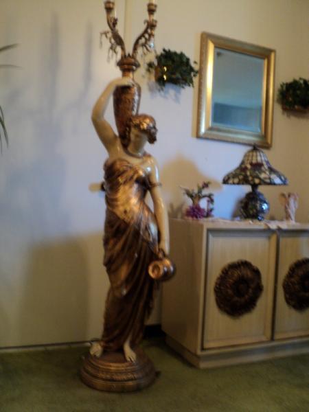 Grecian Goddess Floor Lamp Antique Appraisal Instappraisal