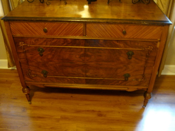 Antique Victorian Dresser Made By Crescent Furniture Co. In 1904