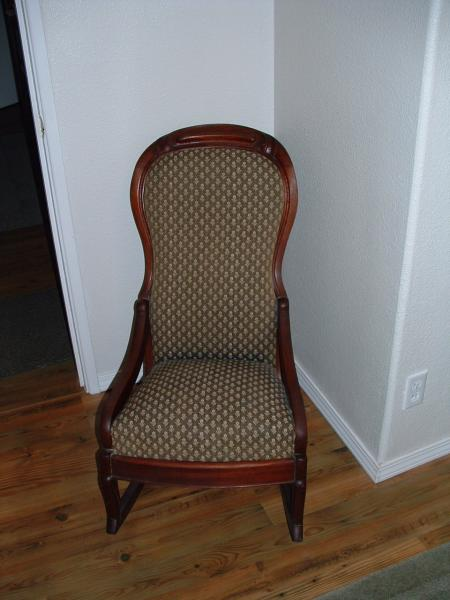 Small Upholstered Rocking Chair