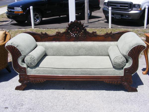 Early American Empire Style Couch Antique Appraisal