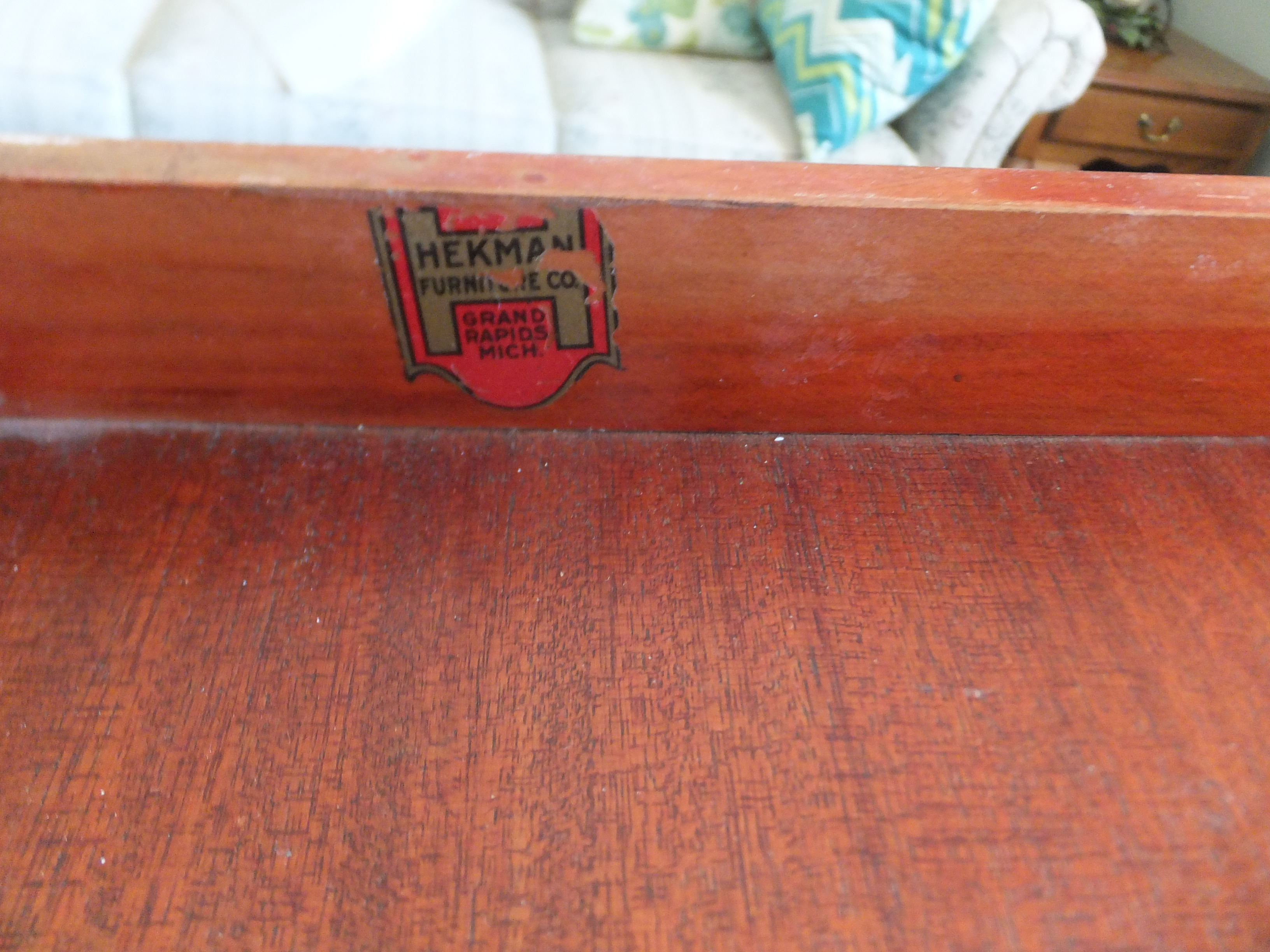 Antique Desk Made By Hekman Furniture Company, Grand Rapids Mich