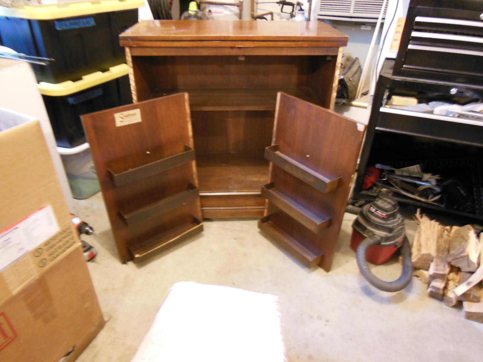 1960u0027s Saginaw Furniture (Chicago) Rolling Buffet/Bar With Folding Top