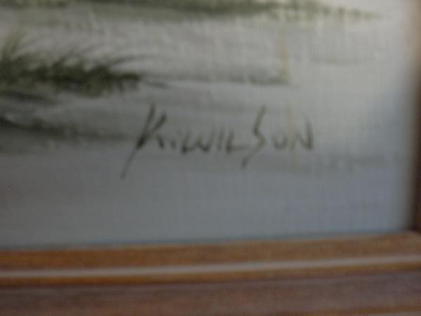 Oil Painting Inscription Bennett
