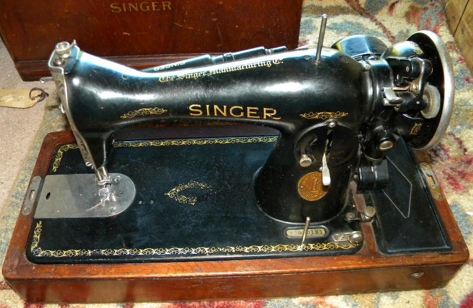 Rare 40 Singer Sewing Machine Model 40 WBent Wood Case And Key Delectable 1935 Singer Sewing Machine