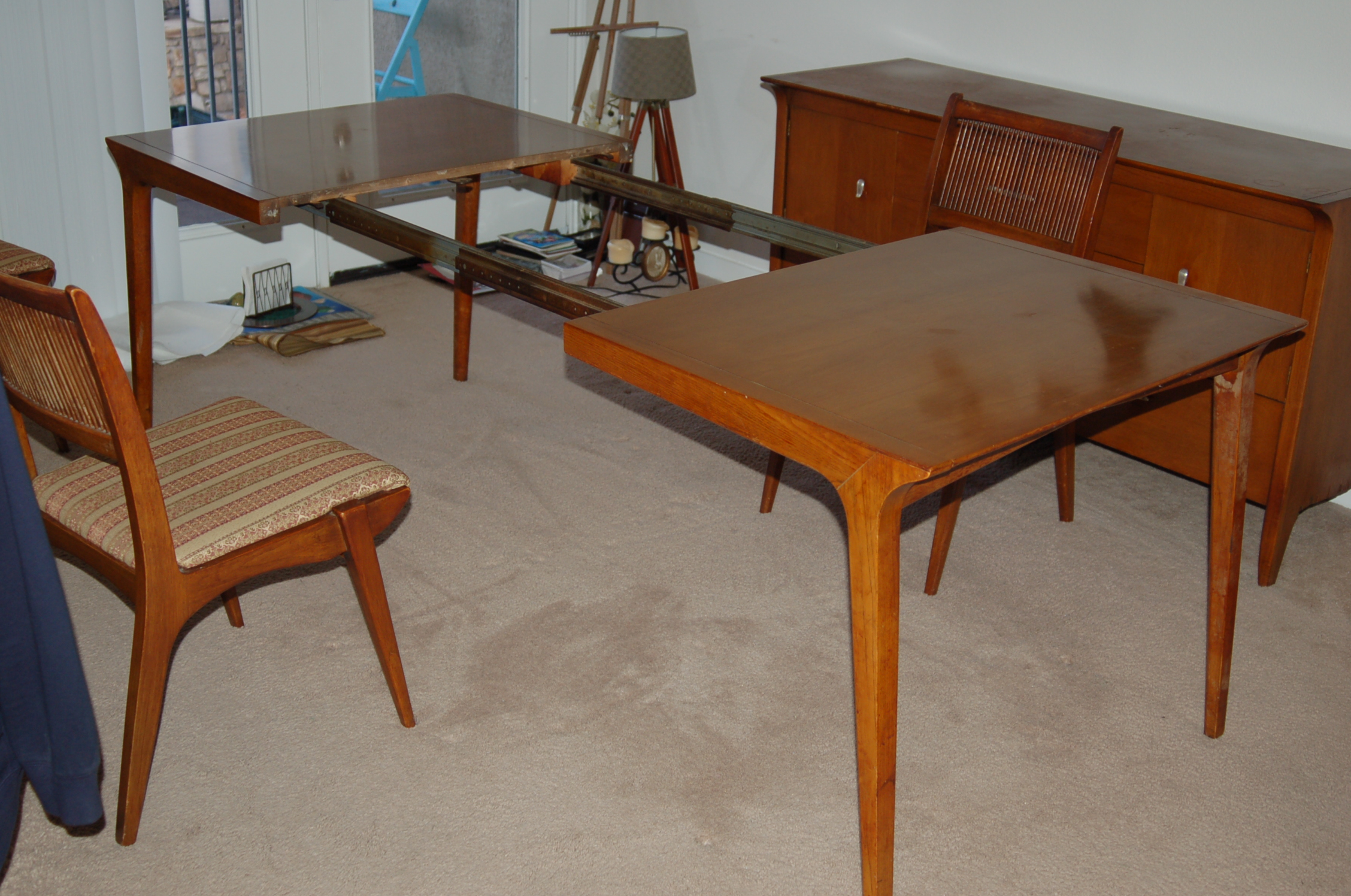 1958 Drexel Profile Dining Set With Side Buffet Antique Appraisal Furniture