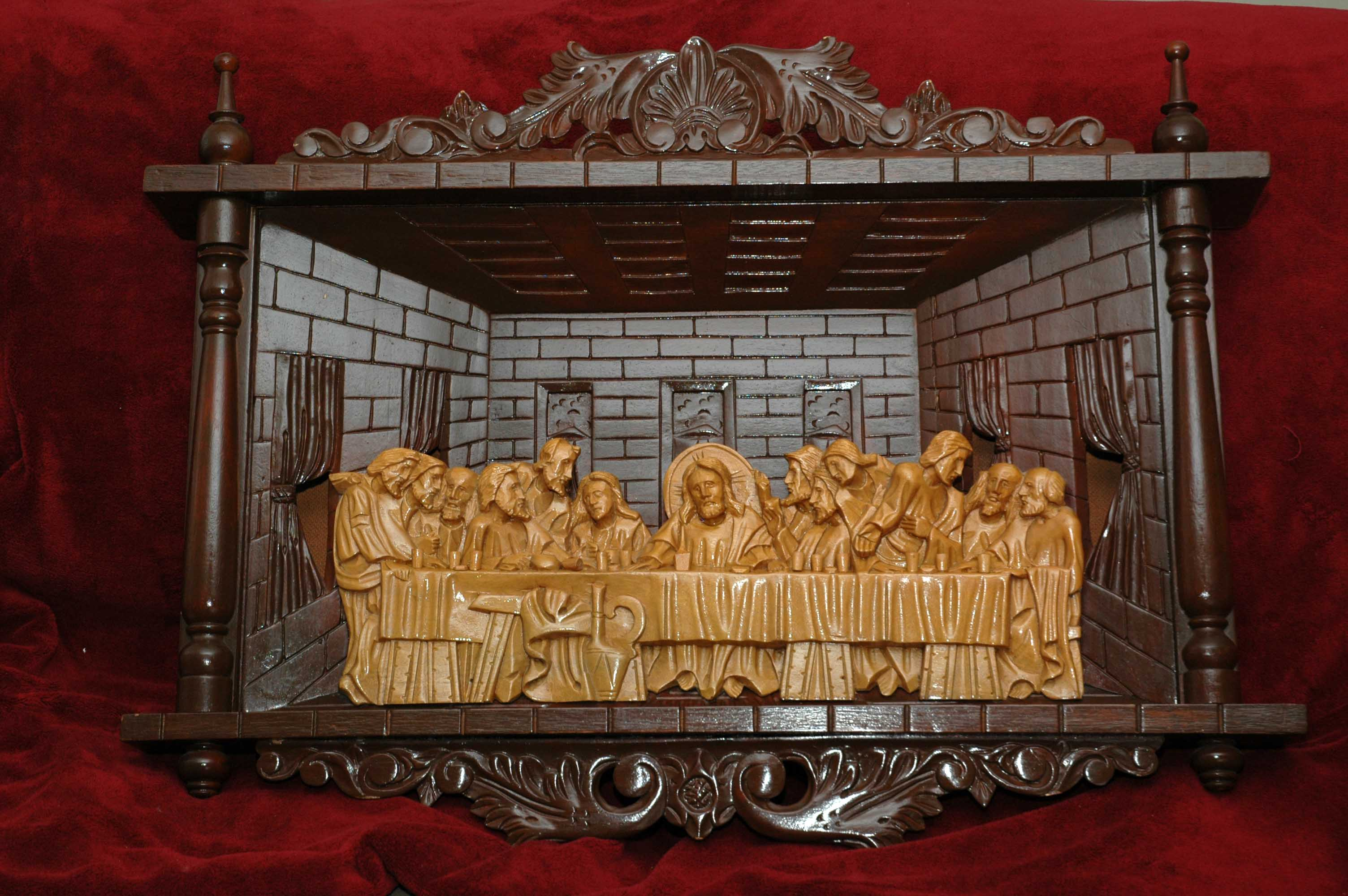Hand carved last supper antique appraisal instappraisal