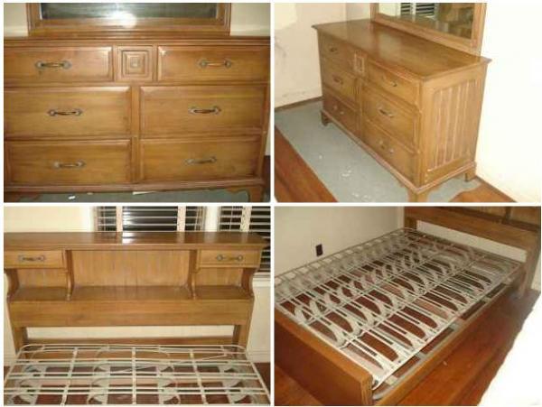 Davis Cabinet Company Full Sized Bed With Dresser U0026 Mirror